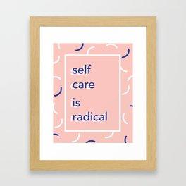 self care is radical Framed Art Print