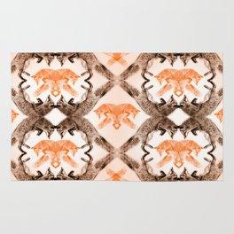 Fox Wallpaper Retro Rug