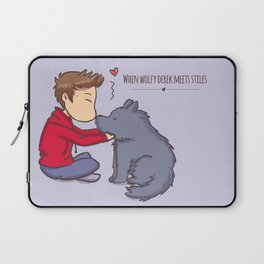 Wolfy Time Laptop Sleeve