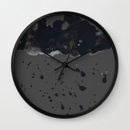 Stormy Black Clouds Version 2 For Earth Day Wall Clock