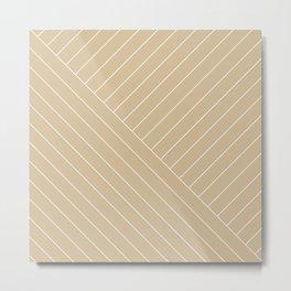 Abstract geometric lines sand Metal Print