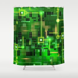 Internal circus Shower Curtain