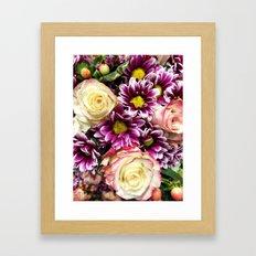 Flower Power Bouquet Framed Art Print