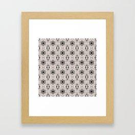 Bridal Blush Floral Geometric Pattern Framed Art Print