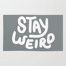 Stay Weird Metal Grey Rug