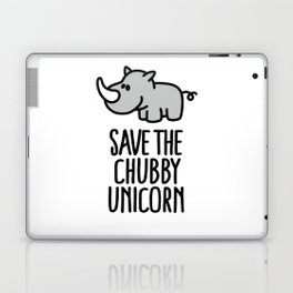 Save the chubby unicorn Laptop & iPad Skin