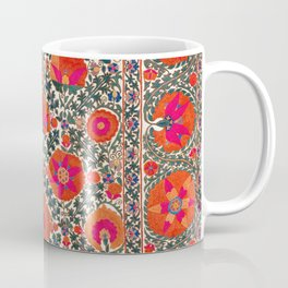 Kermina Suzani Uzbekistan Colorful Embroidery Print Coffee Mug