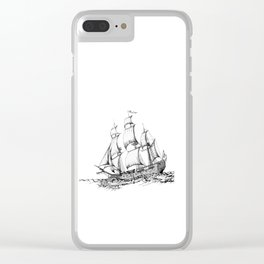 sailing ship . Home decor Graphicdesign Clear iPhone Case