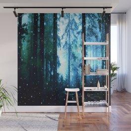 Fireflies Night Forest Wall Mural