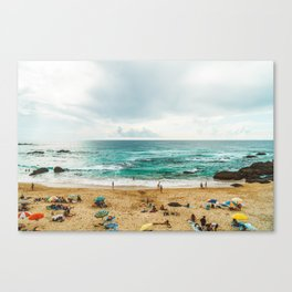 People Having Fun On Beach, Algarve Lagos Portugal, Tourists In Summer Vacation, Wall Art Poster Canvas Print