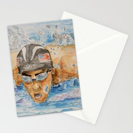 Michael Phelps Swimmer Stationery Cards