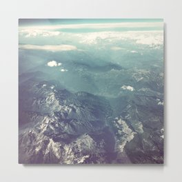 Aerial View of the French Alps Metal Print