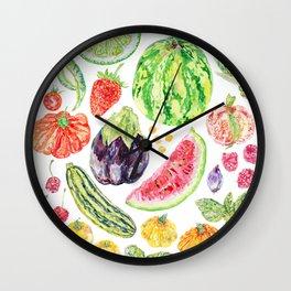 Summer Harvest Wall Clock