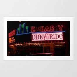 Theater Lights / Embassy Theater Fort Wayne Art Print