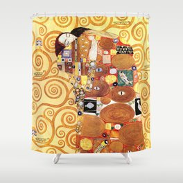 Gustav Klimt Fulfillment Shower Curtain