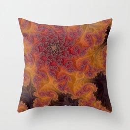 Heart of the Flame - Fractal Art Throw Pillow