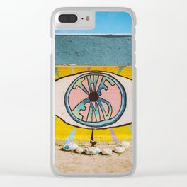 The End in Yucca Valley Clear iPhone Case
