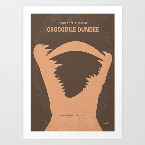 No210 My Crocodile Dundee minimal movie poster Art Print