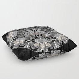 GoldenMandala Floor Pillow