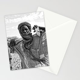 Touareg villager- Timbuktu, Africa Stationery Cards