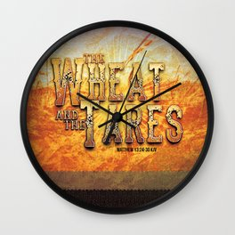 The Wheat and the Tares Wall Clock