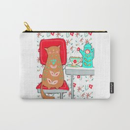 Happy Cat Vintage Kitchen (2 of 2) Carry-All Pouch