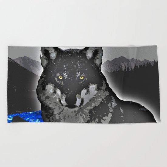 Wolf Beach Towel