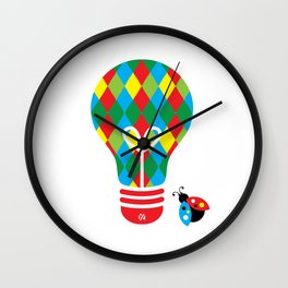 Jokester: Bright Idea Art Series  Wall Clock