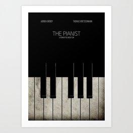 The Pianist - Minimal Art Print