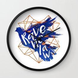 Ravenclaw Bronze Splatter Wall Clock
