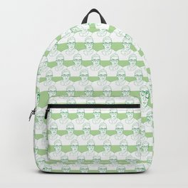 Ruth Bader Ginsburg Pattern in Green Backpack