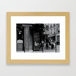At the Brasserie Framed Art Print