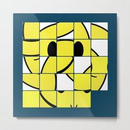 Acid Smiley Shuffle Puzzle Metal Print