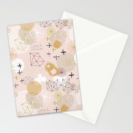 Abstract Planet Stationery Cards