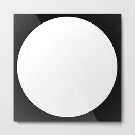 Full moon, minimal, black and white abstract. Metal Print