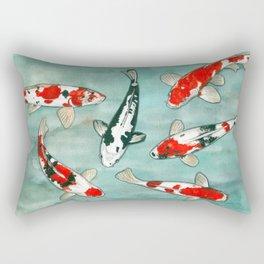 Le ballet des carpes koi Rectangular Pillow
