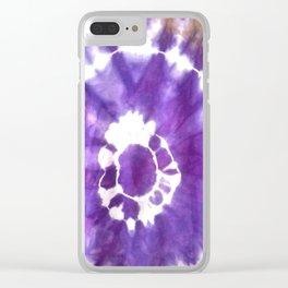 Purple blue tie dye Clear iPhone Case