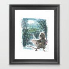 Weasel Falls Framed Art Print