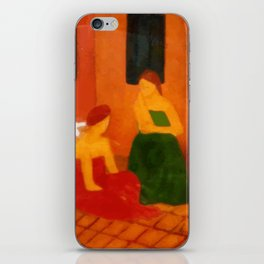 Mulheres na calçada (Women on the sidewalk) iPhone Skin