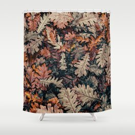 Autumn Leafs Pattern (Color) Shower Curtain