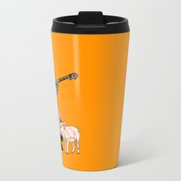 The Cat and the Banjo Travel Mug
