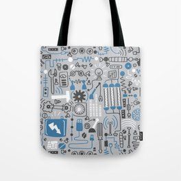 All my circuits in a pattern Tote Bag