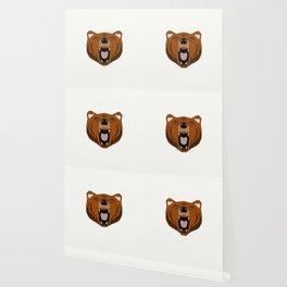 Geometric Bear - Abstract, Animal Design Wallpaper