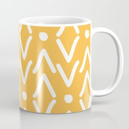 Modern Bold African Yellow Tribal Marking Coffee Mug