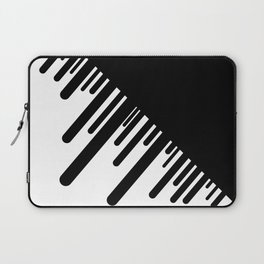 Black and White Meteor Shower Laptop Sleeve