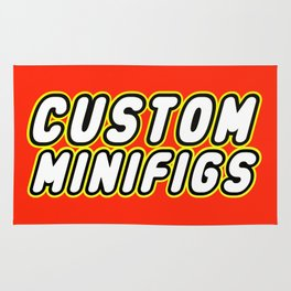 CUSTOM MINIFIGS in Brick Font by Chillee Wilson Rug