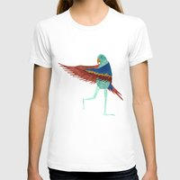 parrot T-shirts featuring Parrot by Jade Young Illustrations