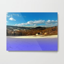 Colorful winter wonderland with clouds | landscape photography Metal Print