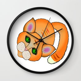 Sad cat Wall Clock