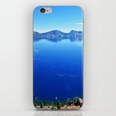 Blue Water Nature Travel Wall Tapestry Crater Lake National Park Oregon Trees iPhone & iPod Skin